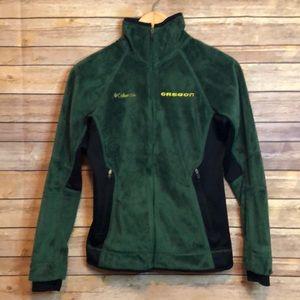 Columbia University of Oregon ducks fleece jacket